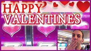 • BIG WIN on Valentine SLOTS with L•VE •  Slot Fruit Machine Pokies w Brian Christopher