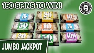 150 SPINS TO WIN! CRAZY Las Vegas Slot Machine GROUP PULL