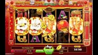 Dancing Lions Slot (Gameart) - Freespins Feature - Big Win