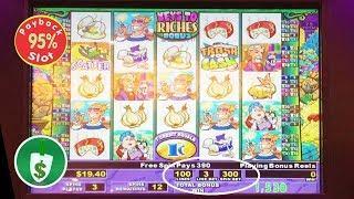 Stinkin' Riches 95% payback slot machine, 25 Line Experiment, surprise payment
