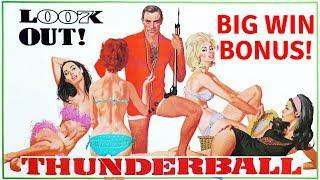 BIG WIN BONUS on JAMES BOND THUNDERBALL SLOT MACHINE POKIE BONUSES