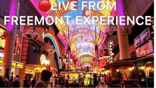 • at Fremont street Vegas