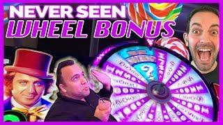 •NEVER SEEN • Wonka Wheel Bonus with Jason!! • Slot Machine Pokies w Brian Christopher