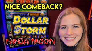 Dollar Storm Slot Machine!  Can I Come All The Way Back?