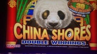 BIG WIN - China Shores Double Winnings Slot Machine Bonus