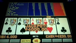 Game King 'TripleDoubleBonus' Video Poker Jackpot at Mirage, Las Vegas