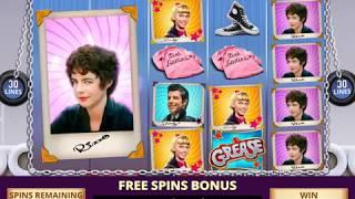 GREASE Video Slot Casino Game with a GREASED LIGHTNING FREE SPIN BONUS