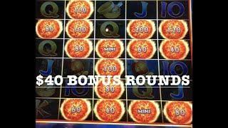 •ULTIMATE FIRE LINK •$40 SPINS (3) HANDPAYS •CHINA STREET