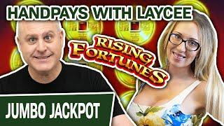 ★ Slots ★ MULTIPLE HANDPAYS with BEAUTIFUL Laycee ⤴ Rising Fortunes SLOTS for 40 MINUTES!