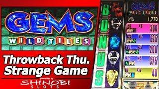 """Gems Wild Tiles Slot - TBT Live Play and Picking Bonus in a strange """"Slot"""""""