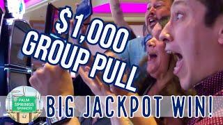 HUGE HANDPAY •EPIC FIRST GROUP PULL $100 EACH $1000 IN SLOT PLAY