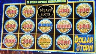 DOLLAR STORM | BIG WIN BONUS | CARIBBEAN GOLD SLOT MACHINE!