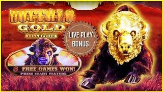 • BUFFALO • GOLD LIVE PLAY & MULTIPLE BONUS SLOT MACHINE •
