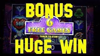 Lock It Link Live Play 10 cent denom BONUS and HUGE WIN $10.00/Spin Slot Machine