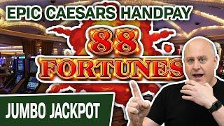 ⋆ Slots ⋆ EPIC Caesars Palace HANDPAY from a $44 SPIN! ⋆ Slots ⋆ High-Limit 88 Fortunes Slot Action