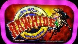 Rawhide-Konami Slot Machine Bonus with Retrigger