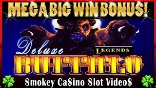 $$ BUFFALO Deluxe Slot Machine MEGA BIG BONUS WIN in Original Version - Aristocrat $$