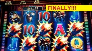 Eureka Gold Mine Slot Machine *IMPOSSIBLE TO GET* Mine Ride Feature *PROGRESSIVE* Bonus Win!