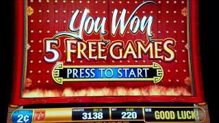 Dragon Rising Slot Machine Bonus Win $4 4 and $11 Bet, PROGRESSIVE JACKPOT Win