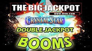 • DOUBLE JACKPOTS on Crystal Star •  3 REEL SLOT WIN$ w/ The Big Jackpot