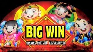 Winning Fortune Progressives - MEGA BIG WIN - New Slot Machine Bonus + Retriggers