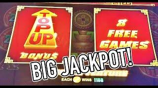 BIG JACKPOT playing high limit Rising Fortunes Slot!