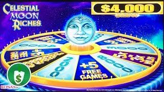 •️ NEW -  Celestial Moon Riches slot machine, 4 sessions, bonus