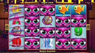 CASHMAN RETURNDS MISS KITTY GOLD Video Slot Casino Game with a MISS KITTY RESPIN BONUS