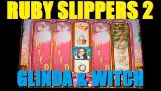★ GLINDA & WITCH SLOT WINS! Ruby Slipper 2 Slot Machine Bonus Wins ~ WMS (DProxima) ★