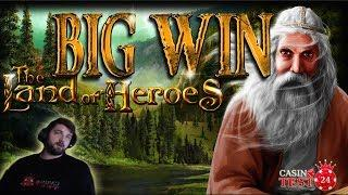 BIG WIN on The Land of Heroes - Bally Wulff Slot - 2€ BET!