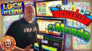 I LOVE LOCK IT LINK Big Wins! •El Mundo & Loteria Bonus Rounds •