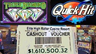 •Video Slot Machine Jackpot Handpay $1,610,500.32 Million Cashout Casino Triple Diamond, 50 Lions, •