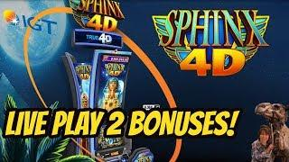 NEW! SPHINX 4D SLOT MACHINE-LIVE-TWO BONUSES!