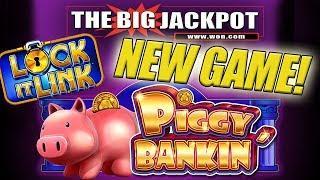 (MUST WATCH) INSANE JACKPOT! •3 Lock It Link JACKPOT$ on NEW GAME Piggy Bankin' •