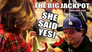 1st LIVE Marriage Proposal?! BIG WIN on Queen of the Nile w/ The Big Jackpot • TheBigJackpot