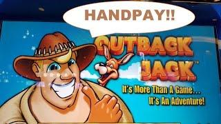 *!!!!!!!!JACKPOT HANDPAY!!!!!!!* Outback Jack | SO EXCITING! :-)