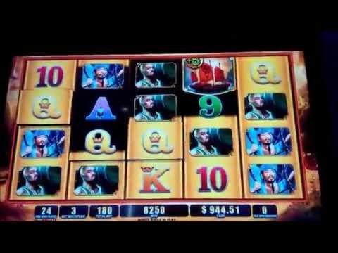 Pirate Queen Slot - Major Progressive for $989.44 and Bonus Retrigger!