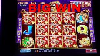 5 TREASURES  Slot Machine •Big Win• and Progressive Jackpots !!! Live Play