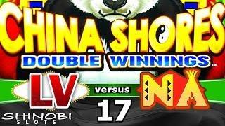 Las Vegas vs Native American Casinos Episode 17: China Shores Double Winnings Slot Machine + Bonus