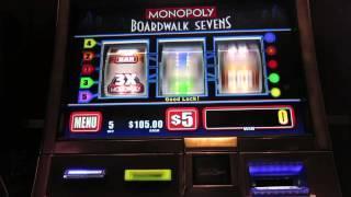 Monopoly Boardwalk Sevens Slot-$5-live Play-sdguy