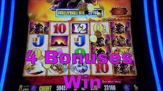 Buffalo Gold Slot Machine Bonus and Buffalo Line Hit !!! 4 Bonuses Win , 25 Minutes  Nice Game