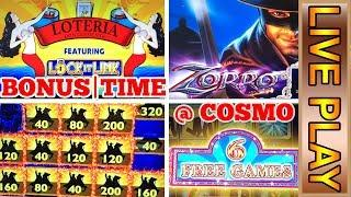 NEW! Lock it Link LOTERIA - ZORRO  and MORE! Cosmopolitan Las Vegas Casino Slot Machine