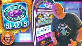 $90 BET •LINE HIT JACKPOT! •Double Diamond Free Games •️HANDPAY! | The Big Jackpot