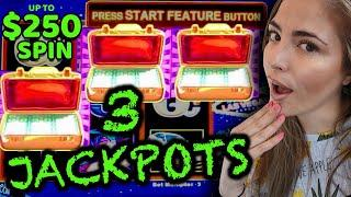 ⋆ Slots ⋆3 HANDPAY JACKPOTS ⋆ Slots ⋆ Up to $250/Spin on Lightning Link High Stakes Game!