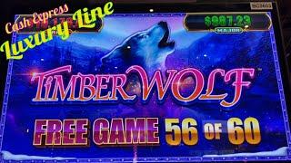 ⋆ Slots ⋆BIG BIG WIN WIN ! SO MANY FREE SPINS !!⋆ Slots ⋆CASH EXPRESS LUXURY LINE / TIMBER WOLF Slot