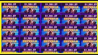 2 JACKPOT SPINS CAUGHT LIVE! BUFFALO DELUXE WONDER 4 SLOT MACHINE!