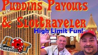 High Limit Slots with PuddinsPayouts 1971 - Monte Carlo slot machine at Venetian • SlotTraveler •