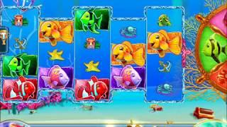 GOLD FISH 3 Video Slot Casino Game with a GREEN FISH BONUS