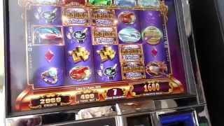 WMS Life of Luxury Deluxe Free Spin Bonus & Progressive BIG WIN! Slot machine