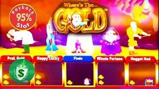 Where's the Gold 95% slot machine, with Findo